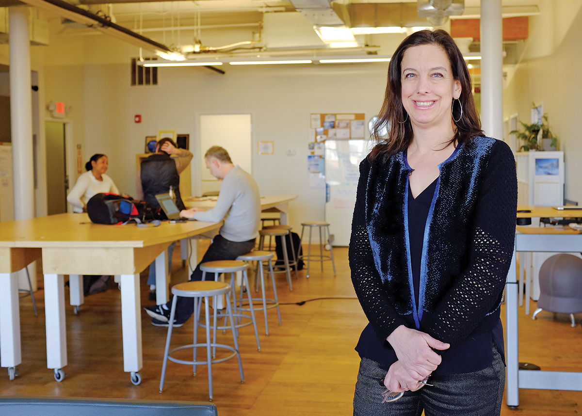 FULL CIRCLE: Providence-based Maternova was the first medtech venture to complete an accelerator program at Social Enterprise Greenhouse. The company's founder, Meg Wirth, is now SEG's director of health and wellness. / PBN PHOTO/ELIZABETH GRAHAM