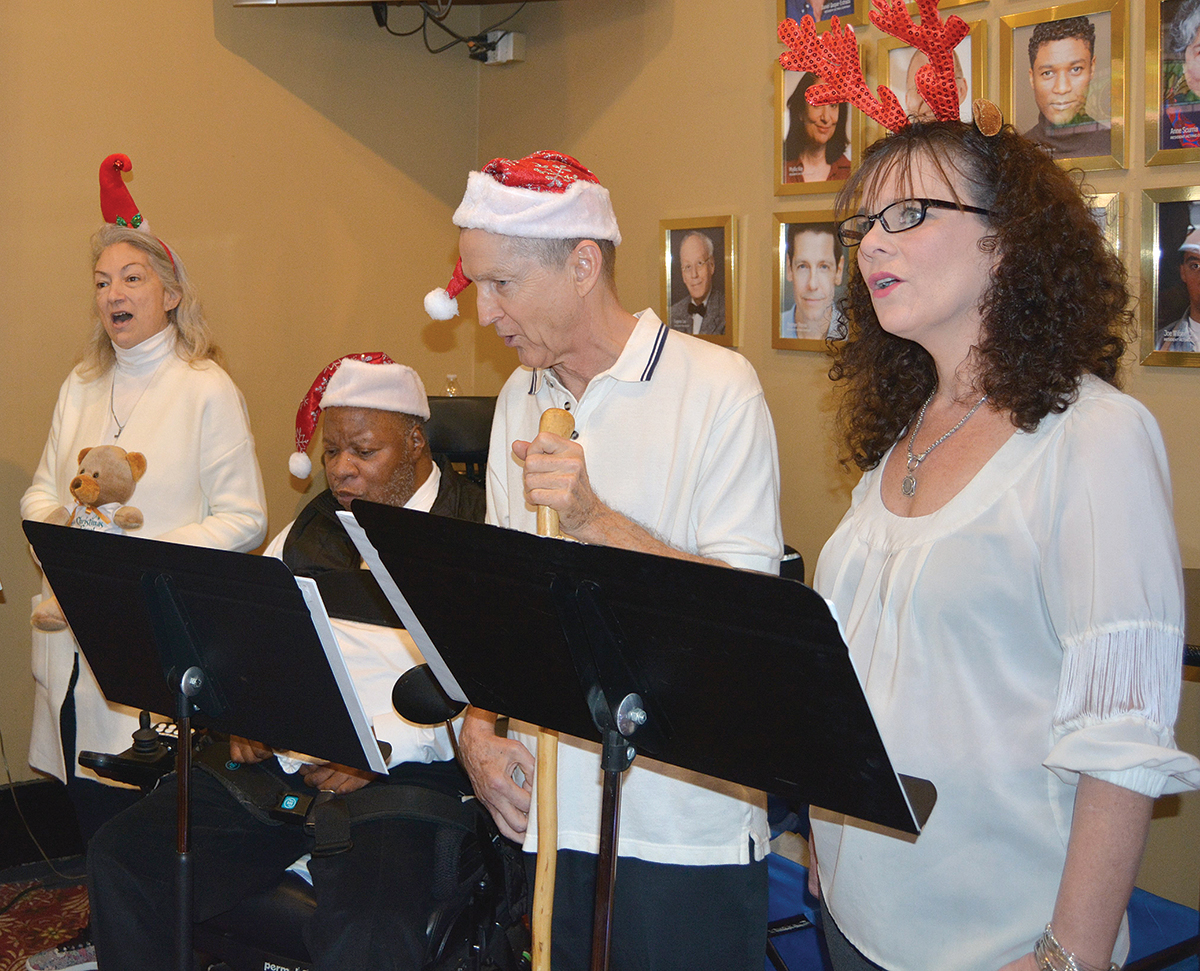 VOCAL GROUP: The Aphasia Clefs, a vocal group comprised of stroke survivors who have speech impediments, will perform at URI on March 9. / COURTESY KATHERINE ROSE