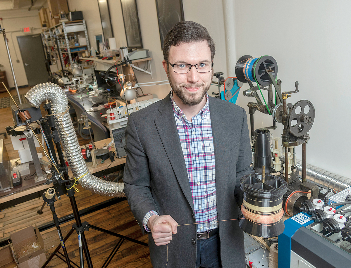 ENGINEERED YARNS: Jim Owens is a principal at Nautilus Defense LLC, a Pawtucket-based company that uses functional braided composite yarns and threads in defense-related products. / PBN PHOTO/MICHAEL SALERNO