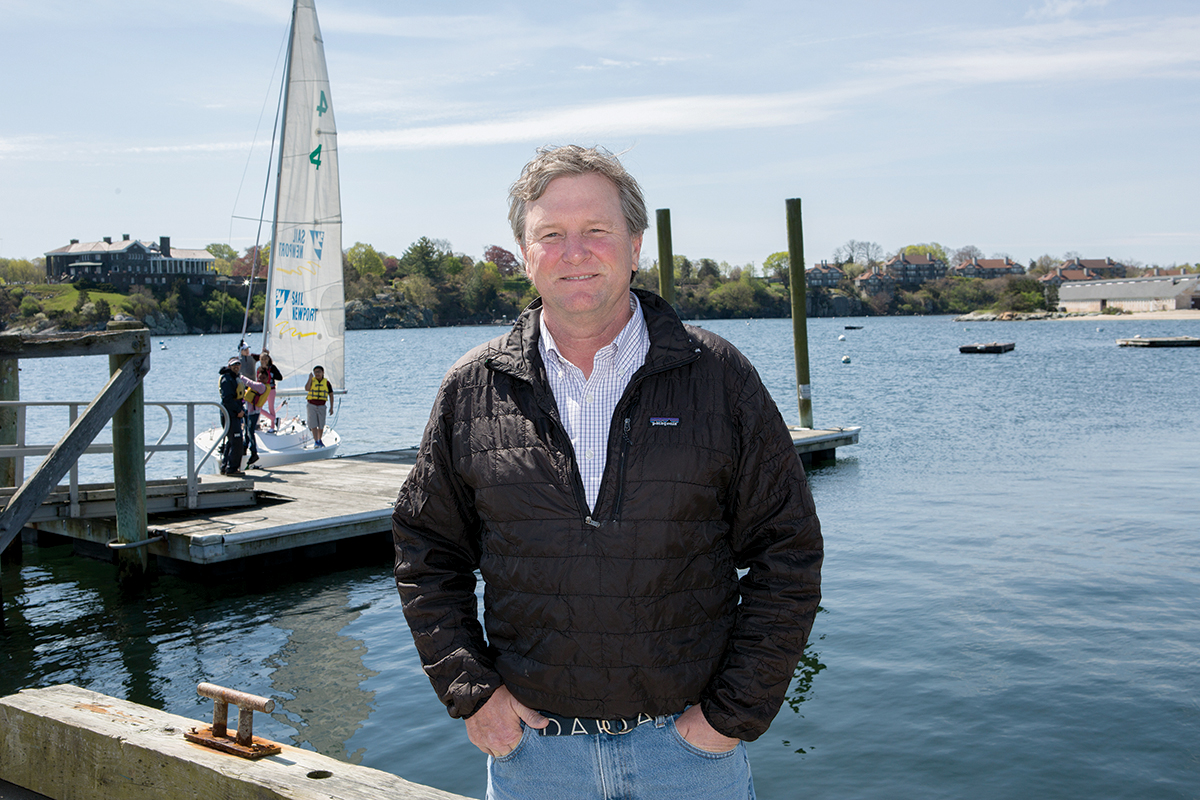 THE HELMSMAN: Brad Read, executive director of Sail Newport Inc., says the nonprofit offers sailing lessons and hosts regattas from Newport Harbor. / PBN FILE PHOTO/KATE WHITNEY LUCEY