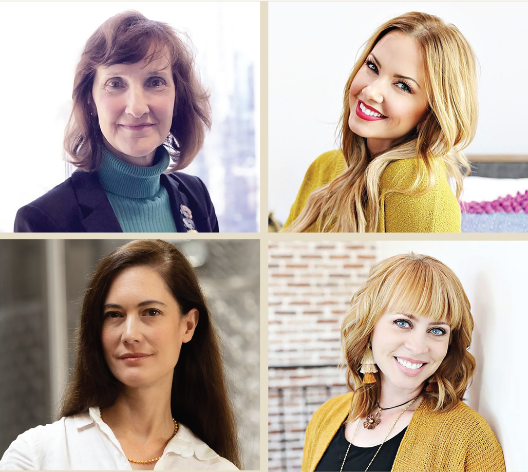 BUILDING SUCCESS: From top left, clockwise, Laurel Delaney, Betsy Mikesell, Angie White and Sonat Birnecker Hart will host a June 4 webinar to discuss how to build a successful business. / COURTESY LAUREL DELANEY, BETSY MIKESELL, ANGIE WHITE, SONAT BIRNECKER HART