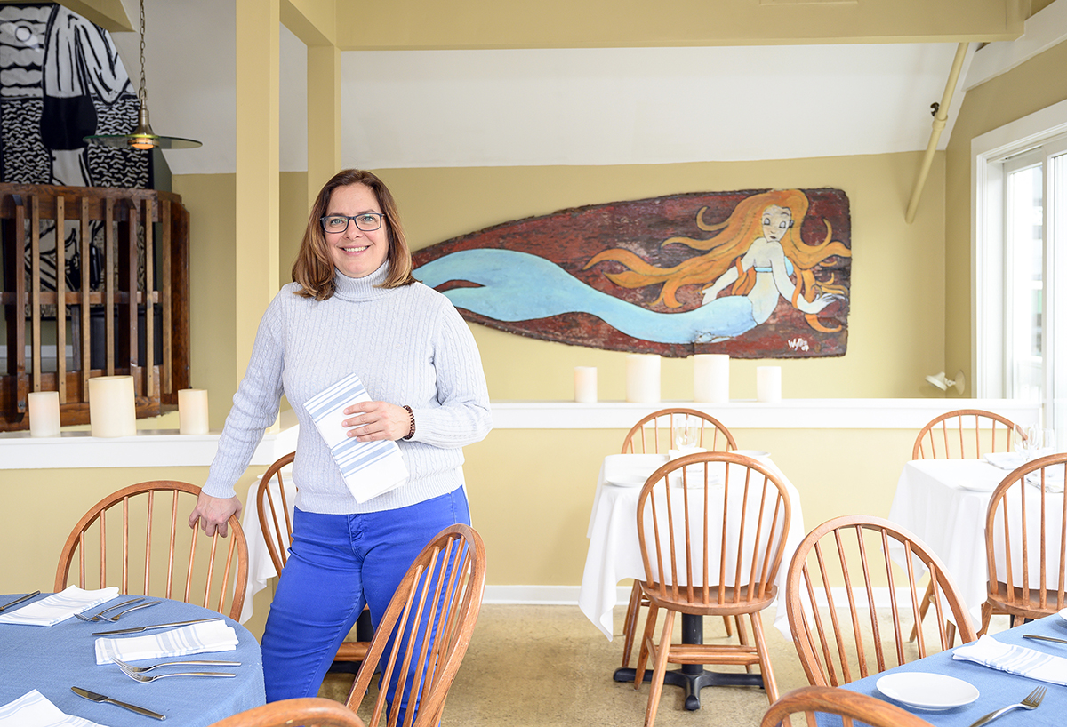 CIRCUITOUS ROUTE: Geremie Callaghan worked in the music and cosmetics industries while living in New York City before returning to Rhode Island to open seafood restaurant Fluke in Newport with her husband, Jeff. / PBN FILE PHOTO/DAVE HANSEN